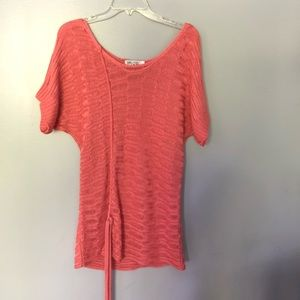 Funky people   light coral sweater   L